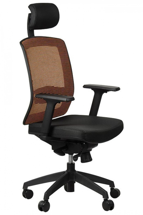 Fotel Biurowy Obrotowy  EF-GN301 z wysuwem siedziska, pomarańczowy