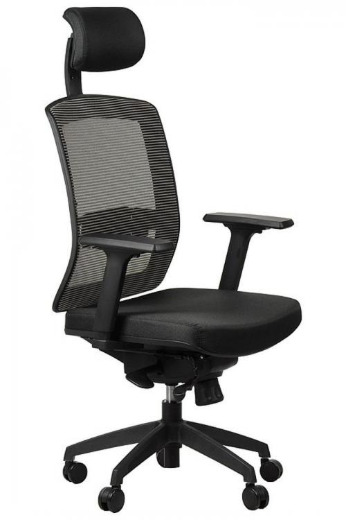 Fotel Biurowy Obrotowy  EF-GN301 z wysuwem siedziska, szary