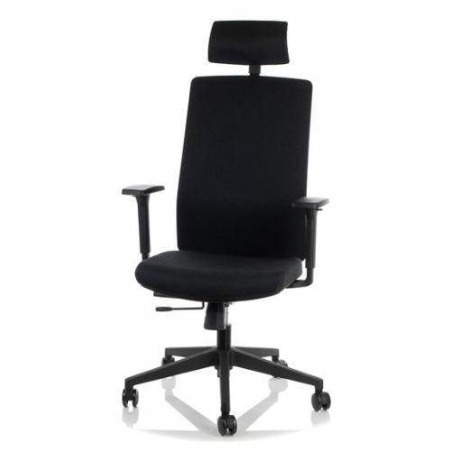Fotel Biurowy Obrotowy  EF-ZN-807-B-30 czarny z wysuwem siedziska
