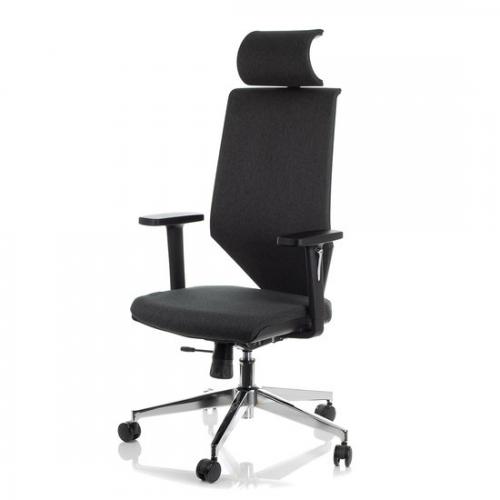 Fotel Biurowy Obrotowy  EF-ZN-805C-26 szary z wysuwem siedziska