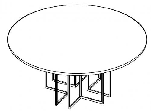 Stolik okolicznościowy fi 120 cm HX 1200