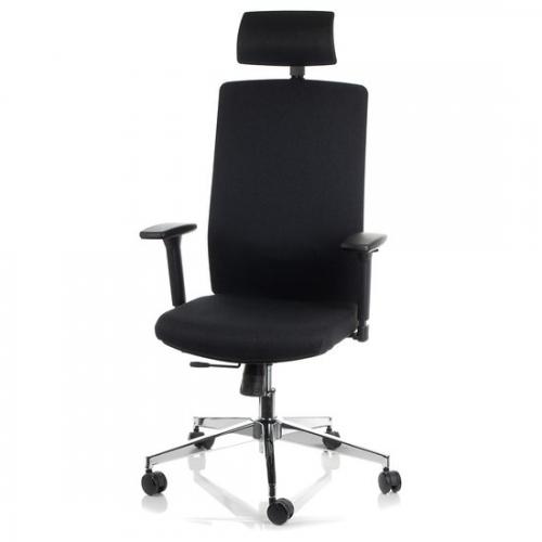 Fotel Biurowy Obrotowy  EF-ZN-807-C-30 czarny z wysuwem siedziska