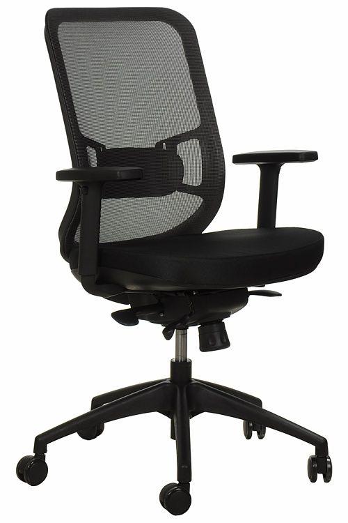 Fotel Biurowy Obrotowy  EF-GN310 z wysuwem siedziska, szary