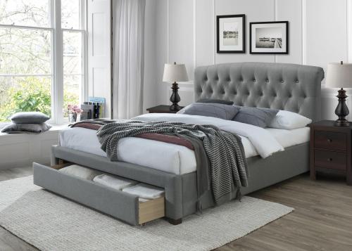 AVANTI łóżko 160 cm z szufladami popiel (3p=1szt)