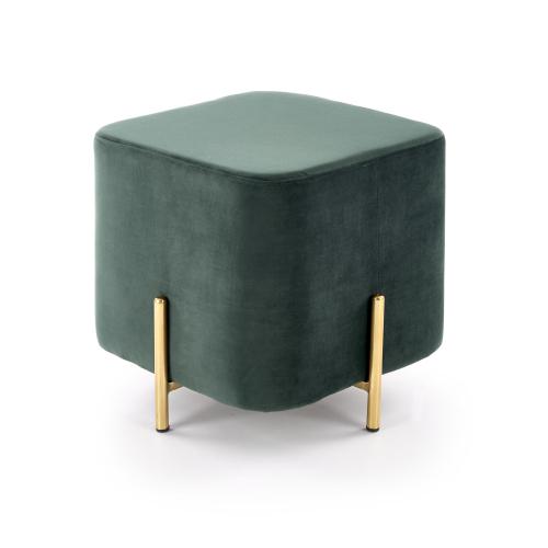 CORNO pufa ciemny zielony / złoty (1p=1szt)