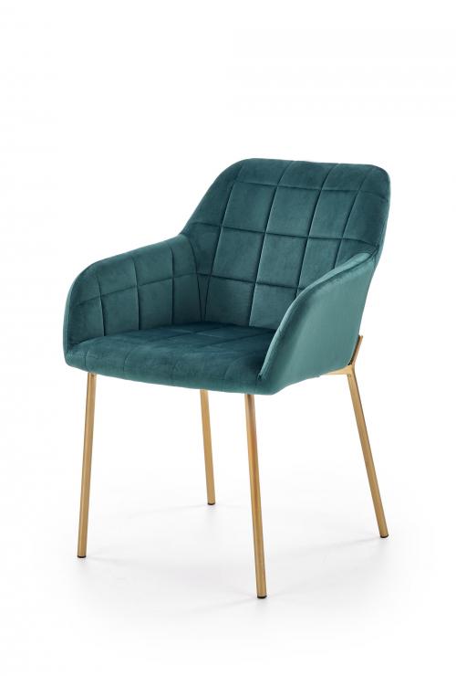 K306 krzesło złote / ciemno-zielone (1p=2szt)