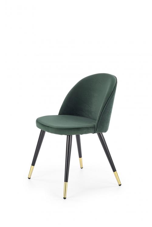 K315 krzesło nogi - czarne / złote, tapicerka - c. zielony (1p=4szt)