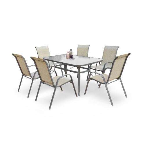 MOSLER stół ogrodowy popielaty