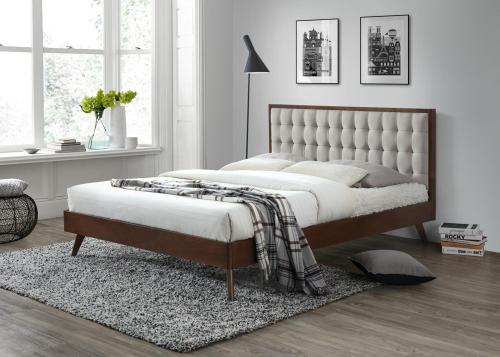 SOLOMO łóżko beżowy / orzech (3p=1szt)
