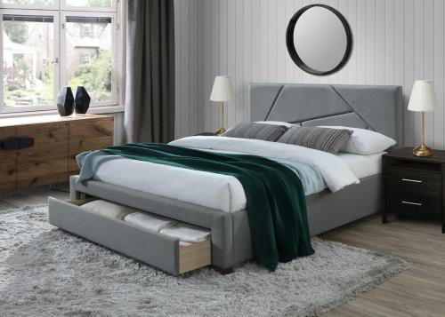 VALERY łóżko 160 cm z szufladami popiel (3p=1szt)