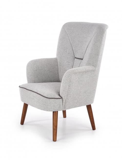 BISHOP fotel wypoczynkowy jasny popiel