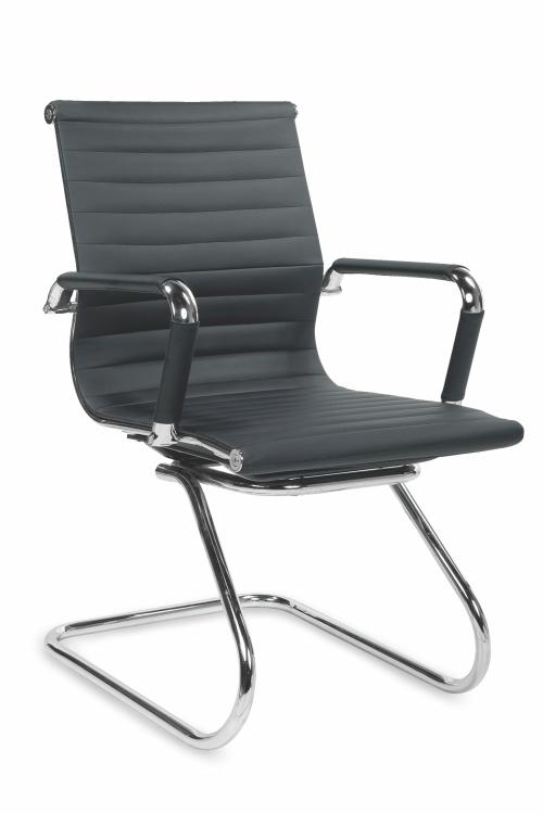 Krzesło konferencyjne PRESTIGE SKID- czarny