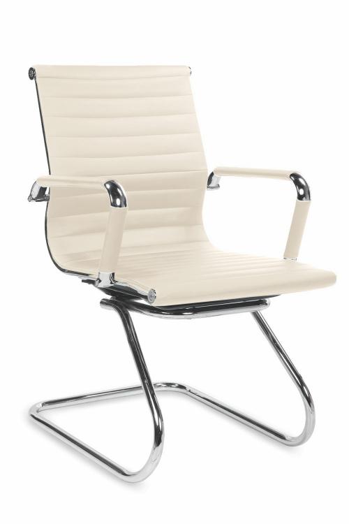 Krzesło konferencyjne PRESTIGE SKID- kremowy