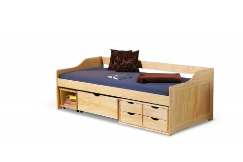 MAXIMA 2 łóżko młodzieżowe drewno lite sosnowe