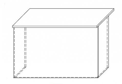 Lada recepcyjna VISTA LV1 - element prosty o wym. 120x70 cm