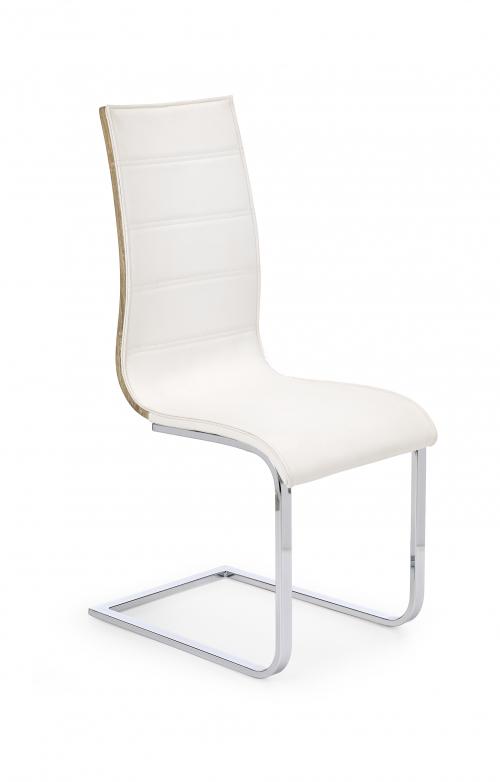 Krzesło konferencyjne K104 biały/dąb sonoma