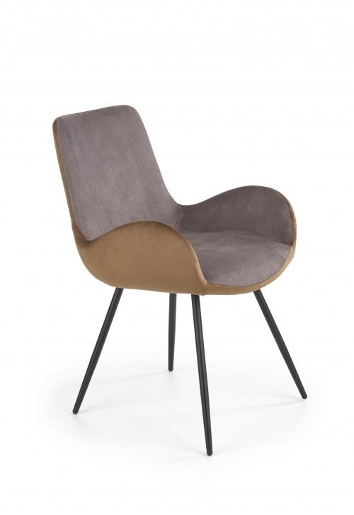 K392 krzesło w kolorze ciemnym popielatym- brązowym (2p=4szt)
