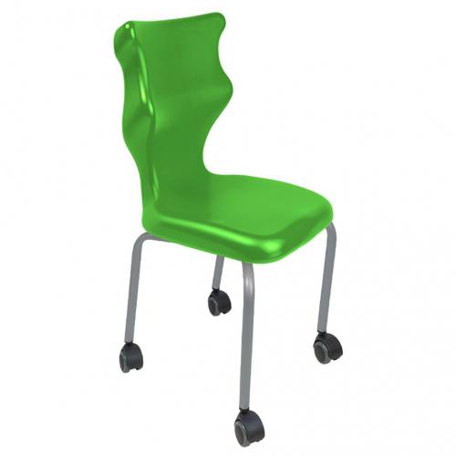 Krzesło szkolne Spider Move nr 6 - stelaż biały Entelo