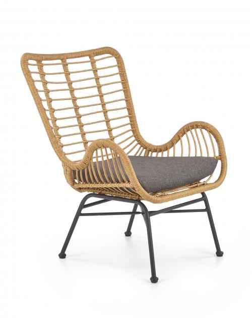 IKARO fotel czarny / naturalny / popielaty (1p=4szt)