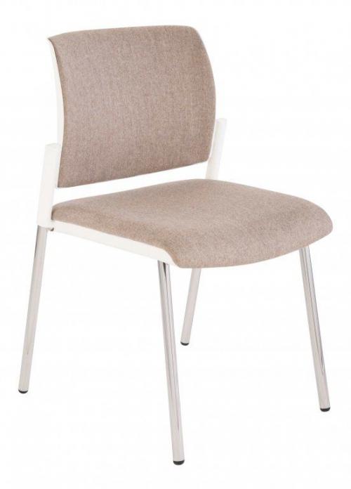 Krzesło konferencyjne Set White Chrome