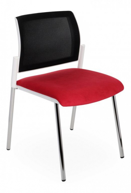 Krzesło konferencyjne Set White Net Chrome