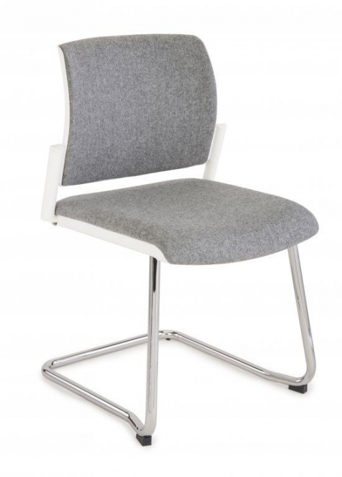 Krzesło konferencyjne Set White V Chrome