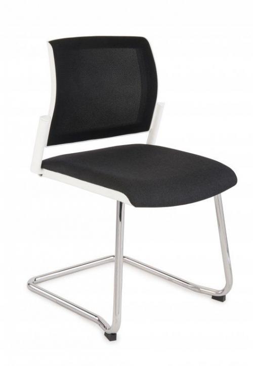 Krzesło konferencyjne Set White V Net Chrome