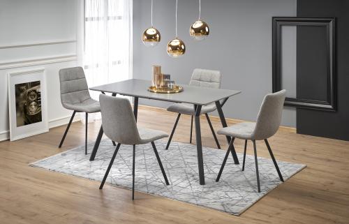 BALROG stół, stelaż - czarny, blat - jasny popiel