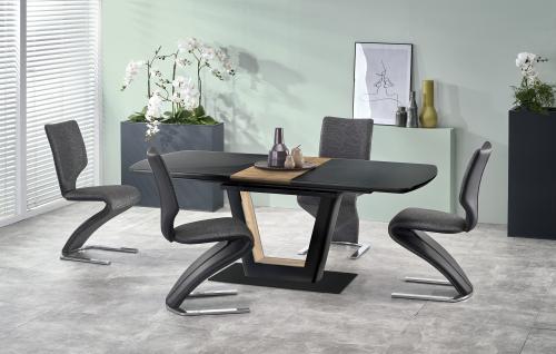 FARREL stół rozkładany czarny / orzechowy