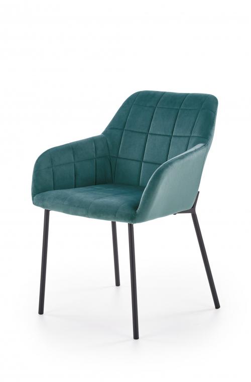 K305 krzesło czarny / ciemny zielony (1p=2szt)