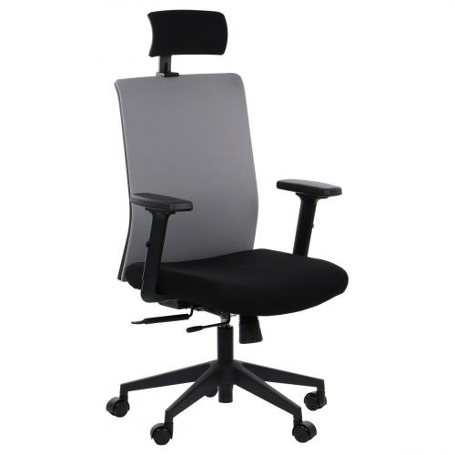 Fotel Biurowy Obrotowy RIVERTON F/H czarny-szary