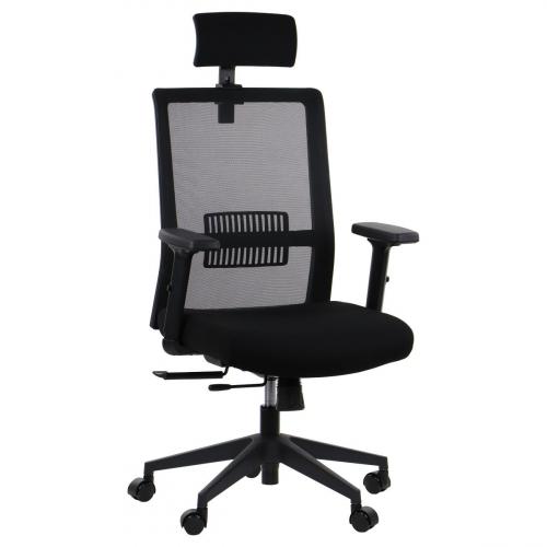 Fotel Biurowy Obrotowy RIVERTON M/H czarny