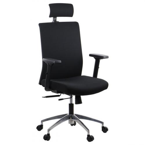 Fotel Biurowy Obrotowy RIVERTON F/H-ALU czarny