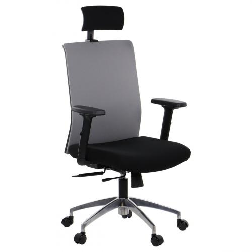 Fotel Biurowy Obrotowy RIVERTON F/H-ALU czarny-szary