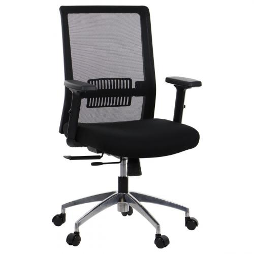 Fotel Biurowy Obrotowy RIVERTON M/L-ALU czarny