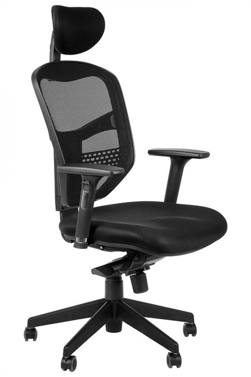 Fotel Biurowy Obrotowy EF-HN5038 czarny z wysuwem siedziska