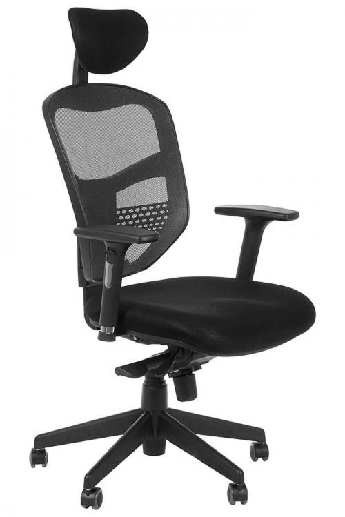 Fotel Biurowy Obrotowy EF-HN5038 grafit z wysuwem siedziska