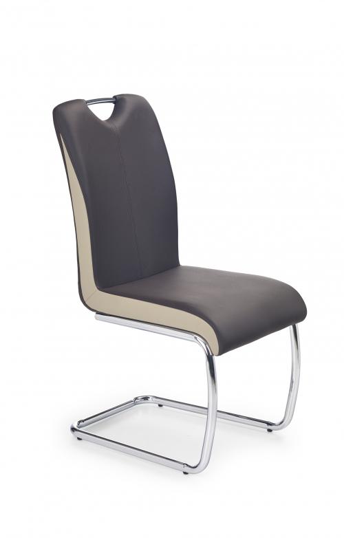 Krzesło konferencyjne K184 ciemny brąz/champagne