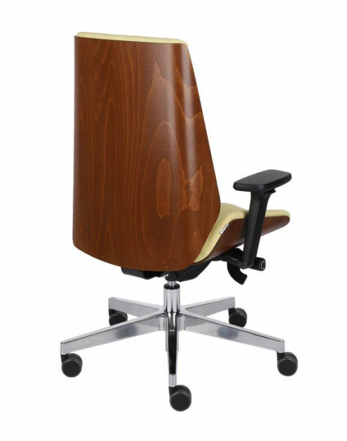 Fotel gabinetowy MOON WOOD CHROME