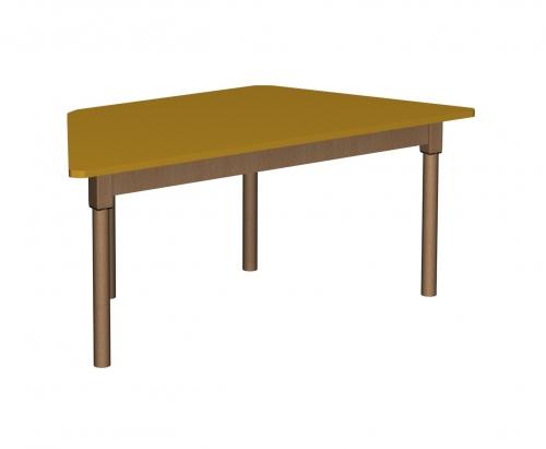 Stolik MB trapezowy drewniany/ opcja regulacja wysokości