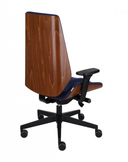 Fotel gabinetowy MOON WOOD BLACK