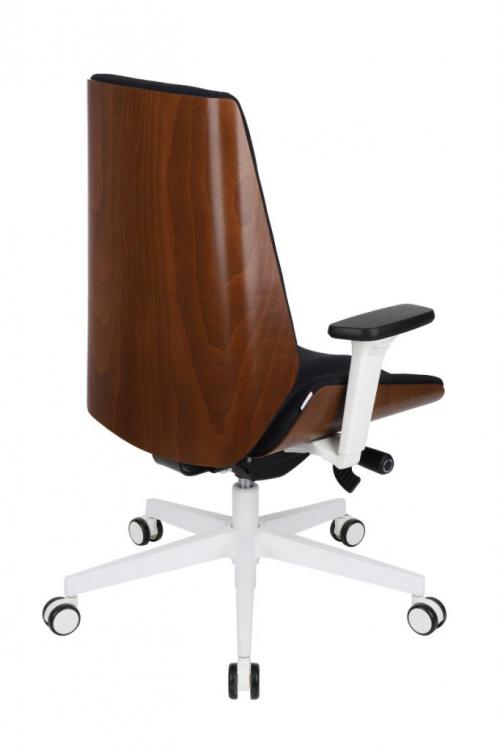 Fotel gabinetowy MOON WOOD WHITE