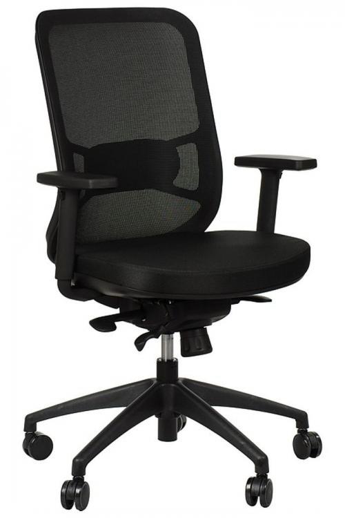 Fotel Biurowy Obrotowy  EF-GN310 z wysuwem siedziska, czarny