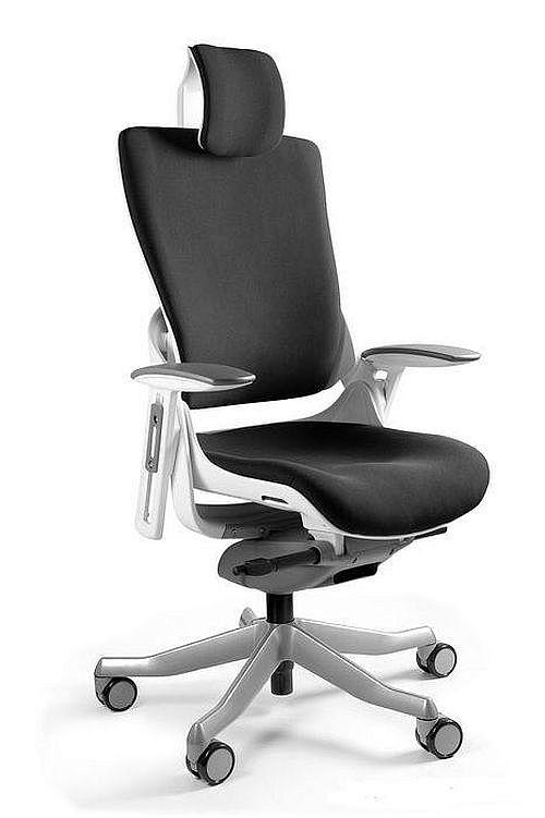 Fotel Obrotowy WAU 2 biały tkanina