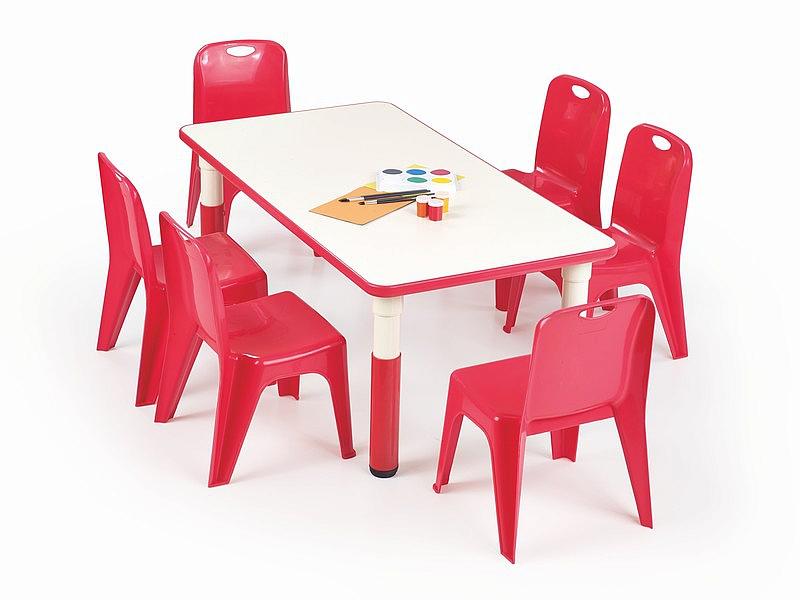 Stolik SIMBA prostokątny - czerwony