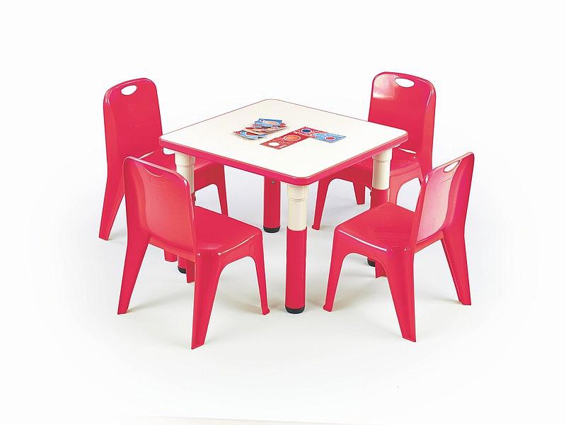 Stolik SIMBA kwadratowy - czerwony