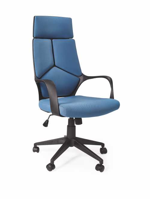 Fotel obrotowy VOYAGER - niebieski