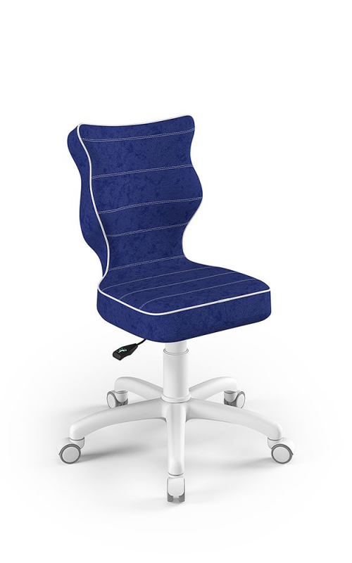 ENTELO Dobre krzesło obrotowe PETIT nr 4 - podstawa biała