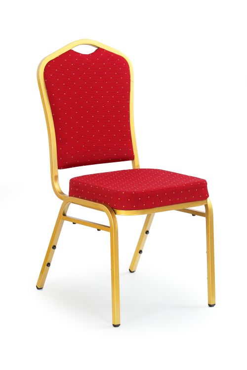 K66 krzesło bordowy, stelaż złoty (1p=1szt)