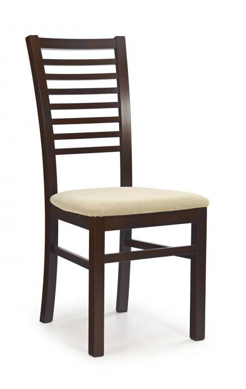 GERARD6 krzesło ciemny orzech / tap: Torent Beige (1p=2szt)